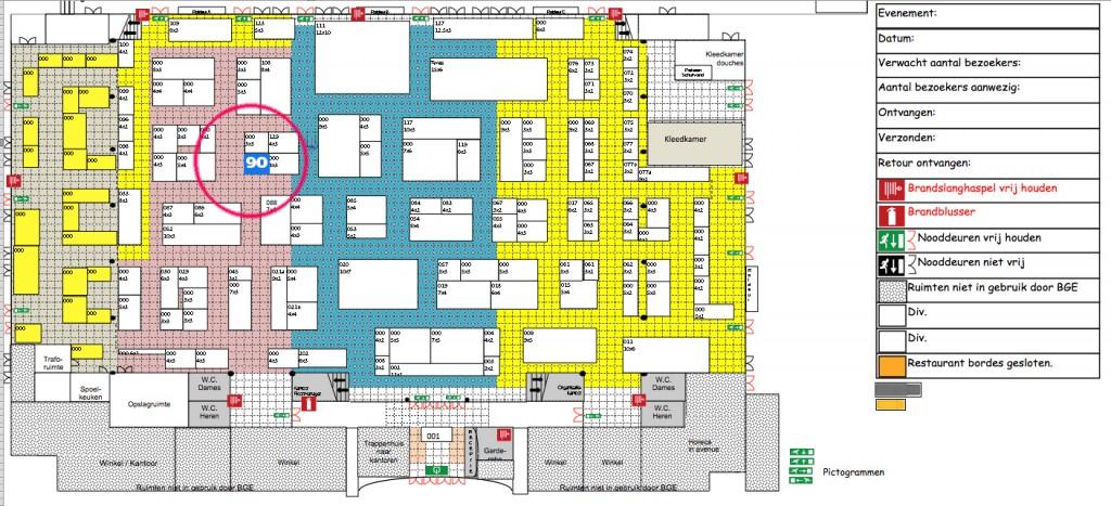 AEB 2016 plattegrond